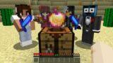 Minecraft Manhunt but if I CRAFT the HUNTERS LOSE..