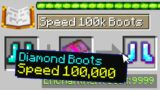 Minecraft UHC but I secretly added Speed 100,000 Boots…