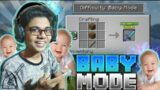 PLAYING MINECRAFT IN BABY MODE!!