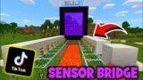 "SENSOR BRIDGE |TikTok Hack| ""MINECRAFT"" #Shorts #Minecraft"