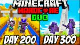 We Survived 300 Days In Hardcore Minecraft – Duo Minecraft Hardcore 300 days