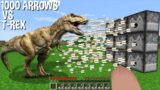 Can T-REX DINOSAUR Withstand 1000 ARROWS in Minecraft EPIC Experiment !?