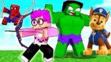 Can We Help THE AVENGERS In MINECRAFT!? (LankyBox Minecraft Movie ft. Spider-Man, Iron Man, Hulk!)