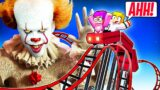 Can We Survive PENNYWISE'S CARNIVAL In MINECRAFT For 24 HOURS!? (LankyBox Minecraft MOVIE!)