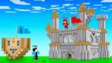 Een GIGANTISCH KASTEEL BOUWEN In Minecraft! (OORLOG)