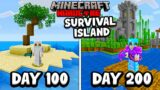 I Survived 200 Days on a SURVIVAL ISLAND in Minecraft Hardcore…
