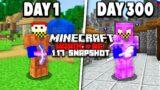 I survived 300 Days in 1.17 Minecraft Hardcore…