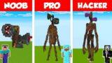 Minecraft NOOB vs PRO vs HACKER: SIREN HEAD HOUSE BUILD CHALLENGE in Minecraft / Animation