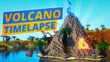 Minecraft Ocean Volcano Island Timelapse
