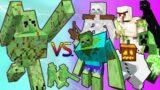 Slime Golem Vs. Mutant Monsters in Minecraft
