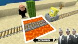 Traps for Spongebob and Friends in Minecraft Part 2 – Coffin Meme