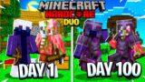 We Survived 100 Days In Hardcore Minecraft – 100 Days Duo Hardcore Minecraft