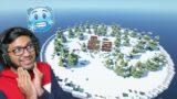 I MADE ICE BIOME ISLAND IN KHATARNAK MINECRAFT ONE BLOCK PART 31 !!