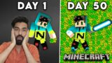 I SPENT 50 DAY INSIDE AN XP FARM – MINECRAFT SURVIVAL GAMEPLAY HINDI #80