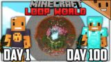 I Spent 100 Days in a LOOP Minecraft World… Here's What Happened