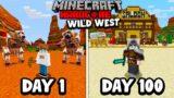I Survived 100 Days in the WILD WEST in Minecraft Hardcore…