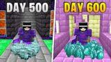I Survived 600 Days in HARDCORE Minecraft…