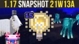Minecraft 1.17 Snapshot 21w13a Invisible Light Source Block & Goats!