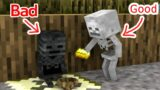 Monster School : Bad Baby Wither Skeleton and Good Baby Skeleton – Minecraft Animation