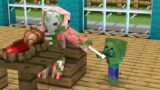 Monster School : Poor Baby Zombie and Dog 3 – Sad Story – Minecraft Animation