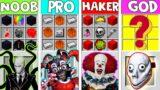 NOOB vs PRO vs HACKER vs GOD : SCARY CRAFTING CHALLENGE IN MINECRAFT ! AMV SHORT Animation