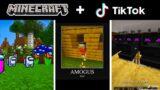 Among US MOBS in Minecraft   Minecraft Tik Tok