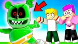 CREEPY GUMMY BEAR ATTACKS OUR SERVER IN MINECRAFT! (LankyBox Minecraft Movie!)