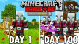 I Survived 100 Days as a PILLAGER in Hardcore Minecraft… Minecraft Hardcore 100 Days
