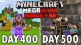 I Survived 500 Days in Mega Ultra Hardcore Minecraft… FINALE! Minecraft Hardcore 100 Days