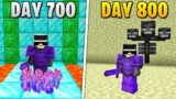 I Survived 800 Days in HARDCORE Minecraft…