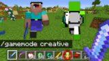 Minecraft Manhunt, But I SECRETLY Use Creative..