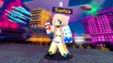 Minecraft…but Exploring Neon District!