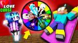 Monster School: LOVE CURSE WHEEL OF FORTUNE Challenge – Minecraft Animation