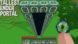 ONLY 1% people CAN BUILD TALLEST ENDER PORTAL in Minecraft !!!
