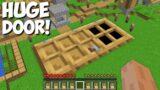 What is BEHIND this HUGE DOOR in Minecraft ? BIGGEST DOOR !