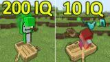 200IQ vs 10IQ Minecraft Plays #7