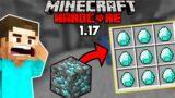 Found Diamonds in 1.17 Minecraft Hardcore