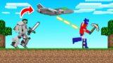 HUNTERS vs TRANSFORMER SPEEDRUNNER! (Minecraft)
