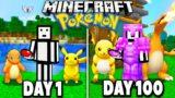 I Spent 100 Days in Minecraft PIXELMON… (Pokemon in Minecraft)