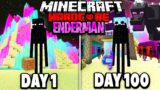 I Survived 100 Days as an ENDERMAN in Hardcore Minecraft… Minecraft Hardcore 100 Days