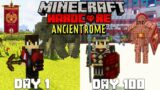 I Survived 100 Days in Ancient Rome in Hardcore Minecraft FT. Mythology