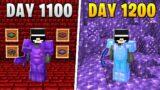 I Survived 1,200 Days in HARDCORE Minecraft…