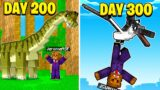 I Survived 300 Days In Jurrasicraft Minecraft (Here's What Happened)