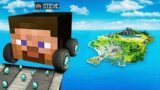 Jumping SECRET MINECRAFT CARS Across ENTIRE MAP In GTA 5!