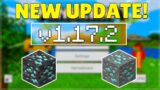 MCPE 1.17.2 RELEASED CAVES & CLIFFS UPDATE! Minecraft Pocket Edition Diamonds Fixed & Bugs