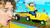 Minecraft BUT GRASS = OP ITEMS!