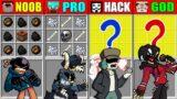 Minecraft NOOB vs PRO vs HACKER vs GOD FRIDAY NIGHT FUNKIN CRAFTING SCP CHALLENGE FNF Animation 4