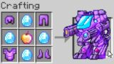 """Minecraft UHC but you can craft a """"Netherite Robot"""".."""