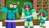 Monster School: Samurai Poor Baby Zombie (Best Family) (Sad story) – Minecraft Animation