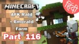 Part 116 – OP AFK RAID + Emerald Farm – Minecraft Bedrock | in Hindi | BlackClue Gaming